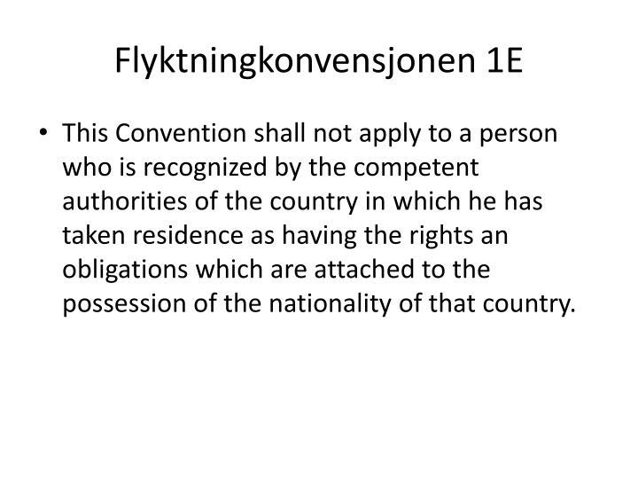 Flyktningkonvensjonen 1E