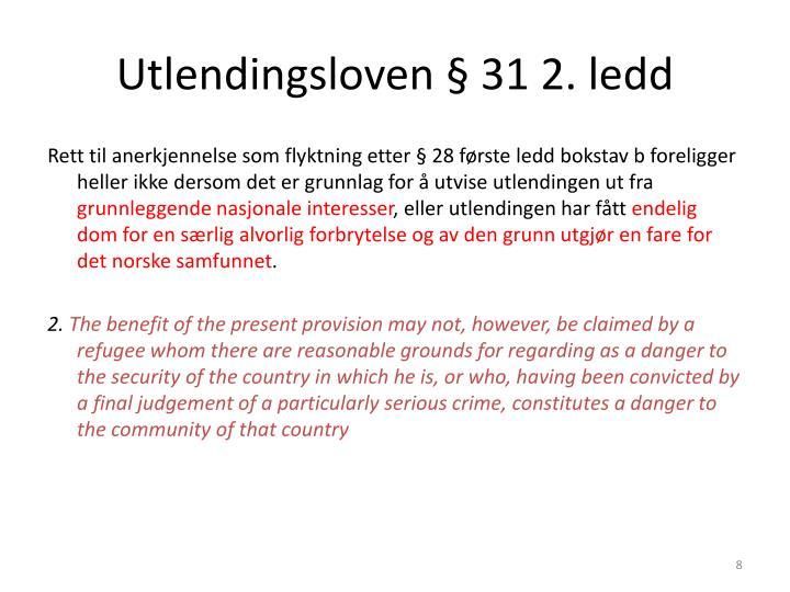 Utlendingsloven § 31 2. ledd