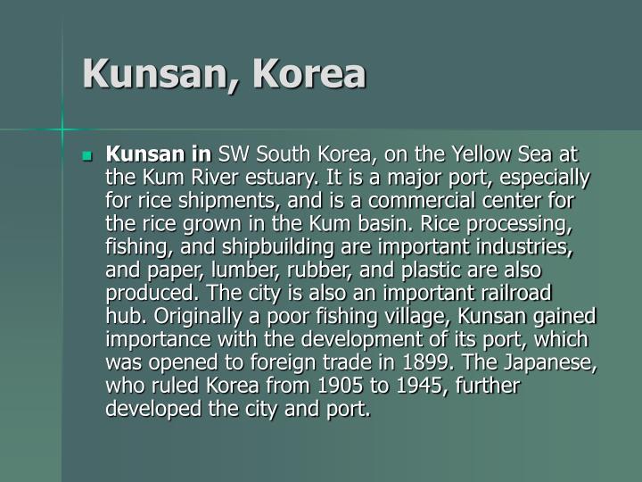 Kunsan, Korea