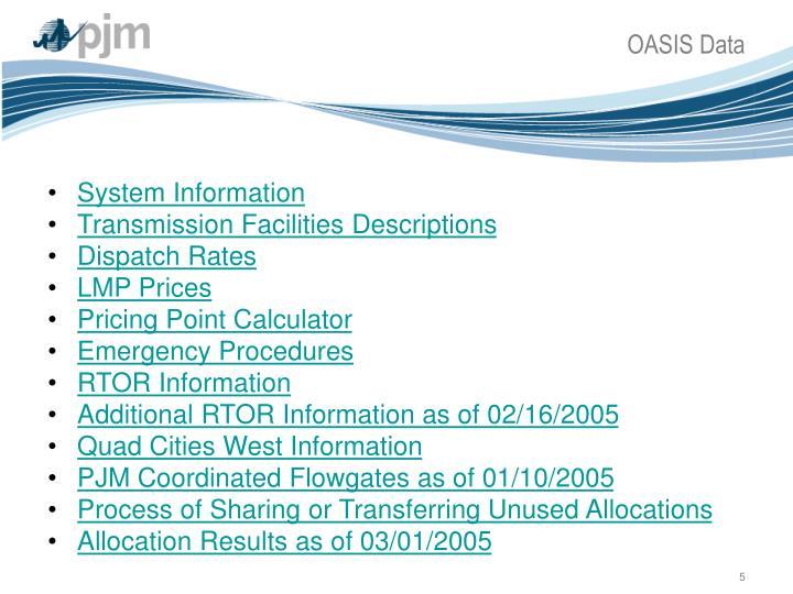 OASIS Data
