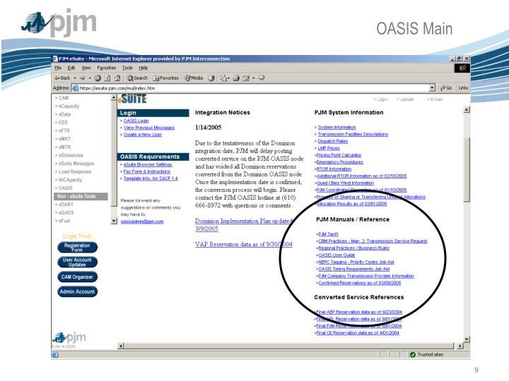 OASIS Main