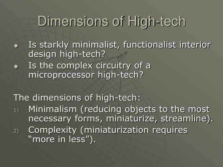 Dimensions of High-tech