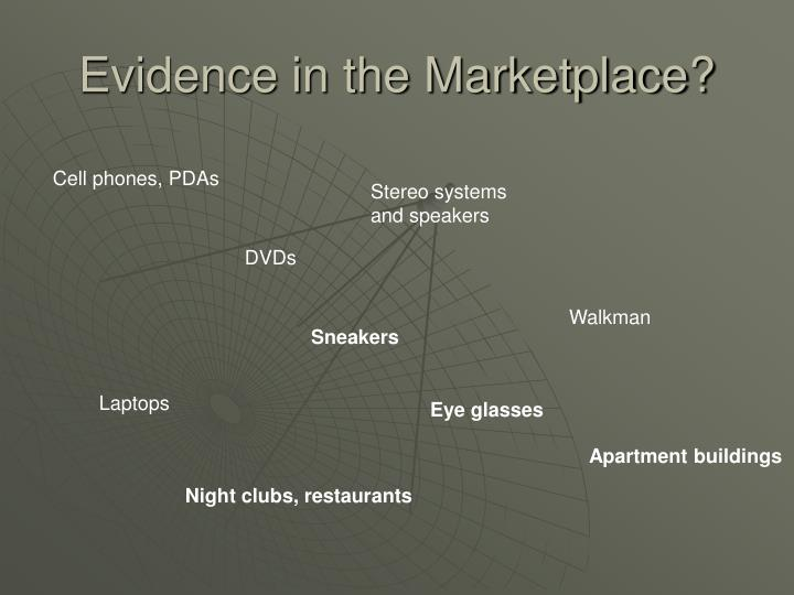 Evidence in the Marketplace?