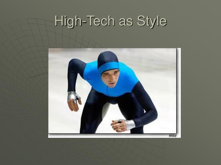 High-Tech as Style