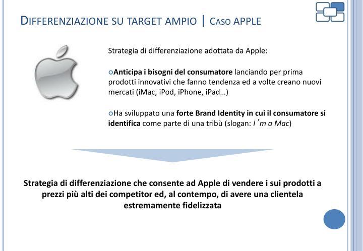 Differenziazione su target ampio |