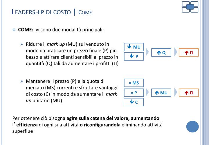 Leadership di costo |