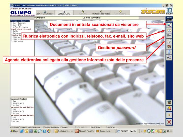 Documenti in entrata scansionati da visionare
