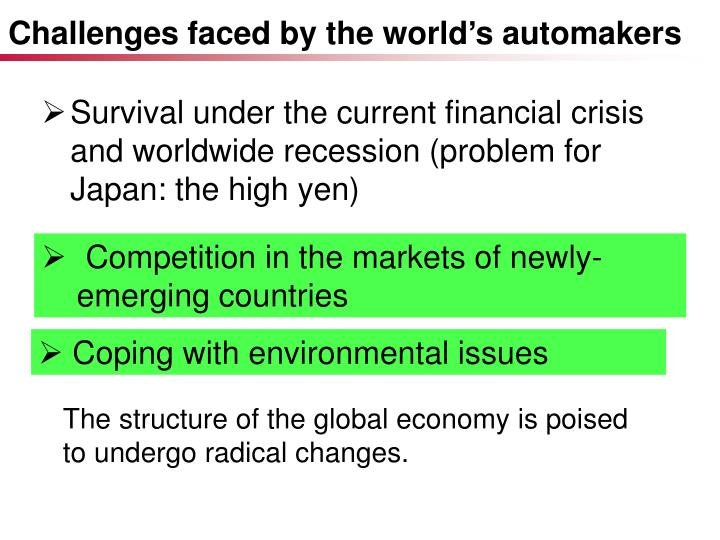 Challenges faced by the world's automakers