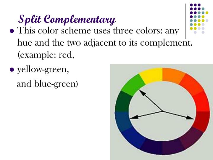 Ppt color wheel powerpoint presentation id 5481519 - Split complementary colors examples ...