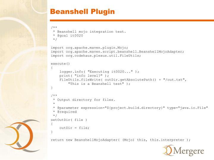 Beanshell Plugin