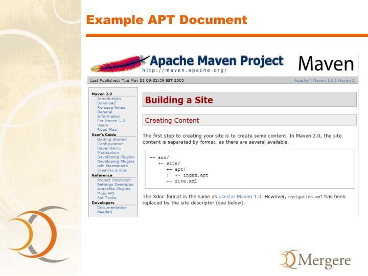 Example APT Document