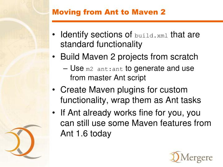 Moving from Ant to Maven 2