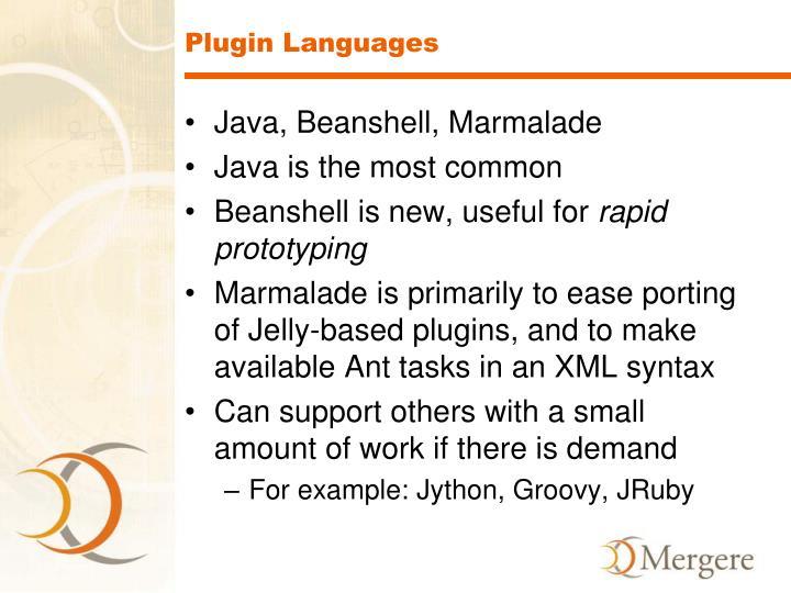 Plugin Languages