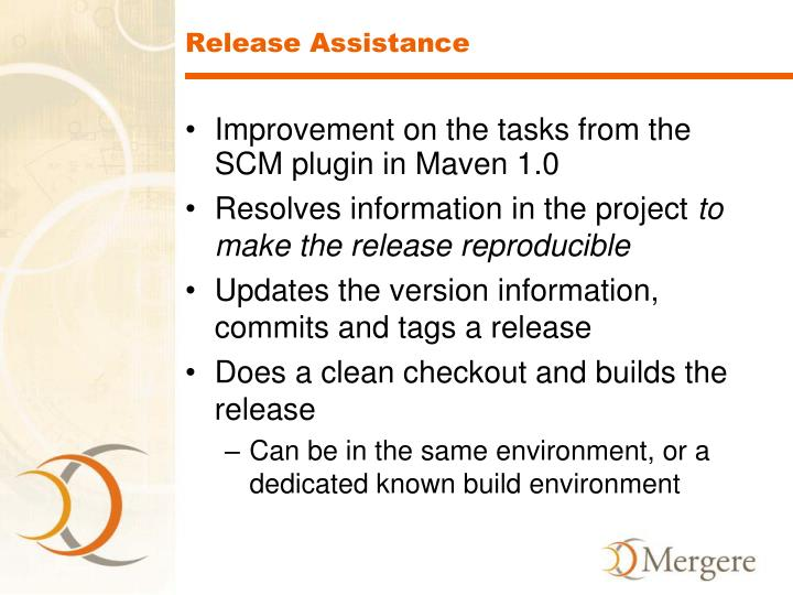 Release Assistance