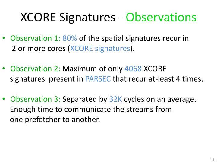 XCORE Signatures -