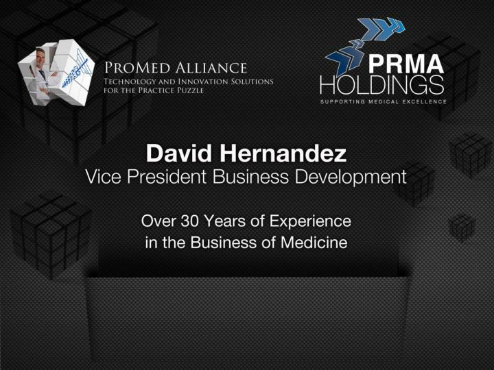 Agenda welcome introduction to prma and promed alliance david hernandez vp