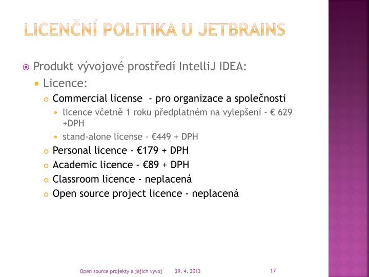 licenční politika