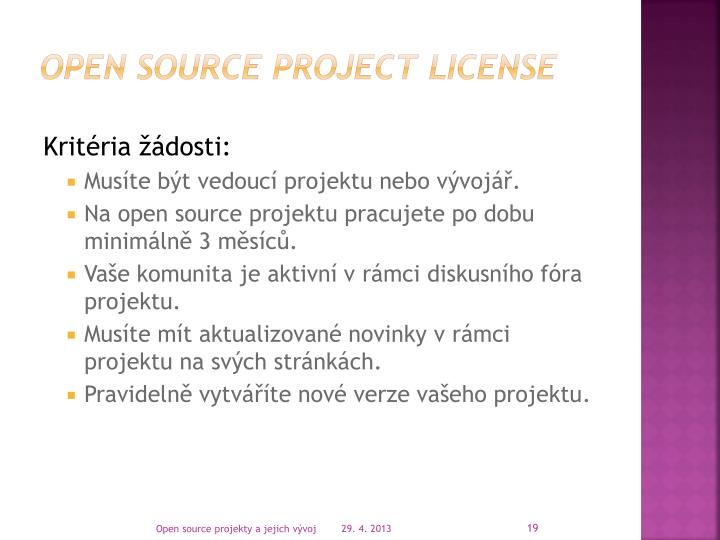 Open Source Project License