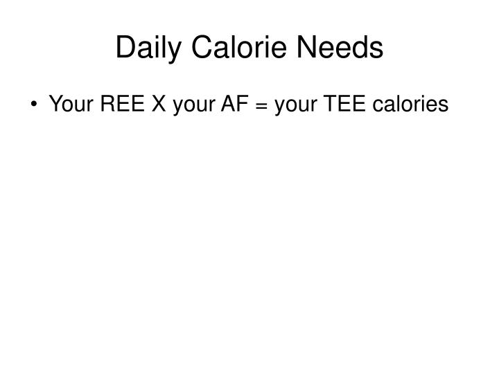 Daily Calorie Needs