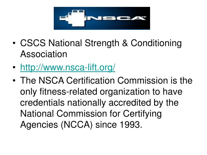 CSCS National Strength & Conditioning Association