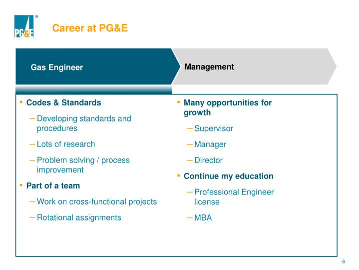 Career at PG&E
