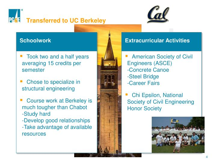 Transferred to UC Berkeley