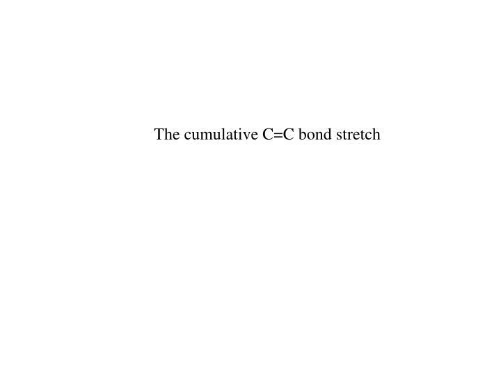 The cumulative C=C bond stretch