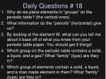 daily questions 18