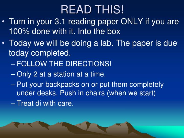 READ THIS!