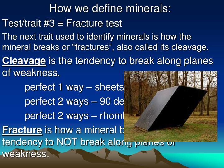 How we define minerals: