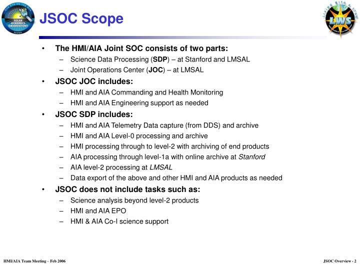 JSOC Scope