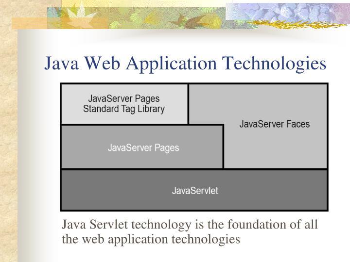 Java Web Application Technologies