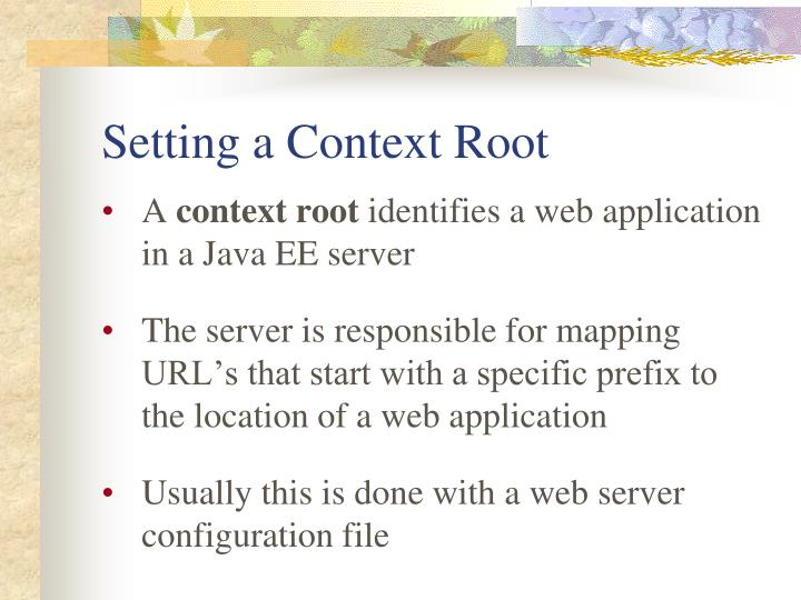 Setting a Context Root