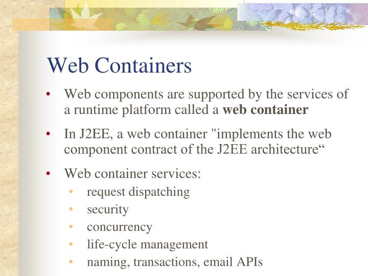 Web Containers