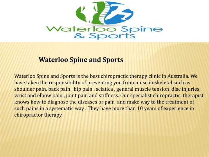Waterloo Spine and Sports
