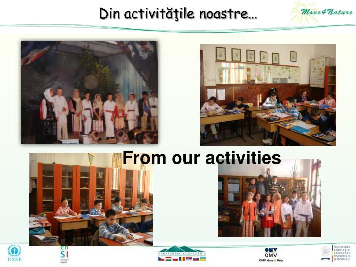 Din activităţile noastre…