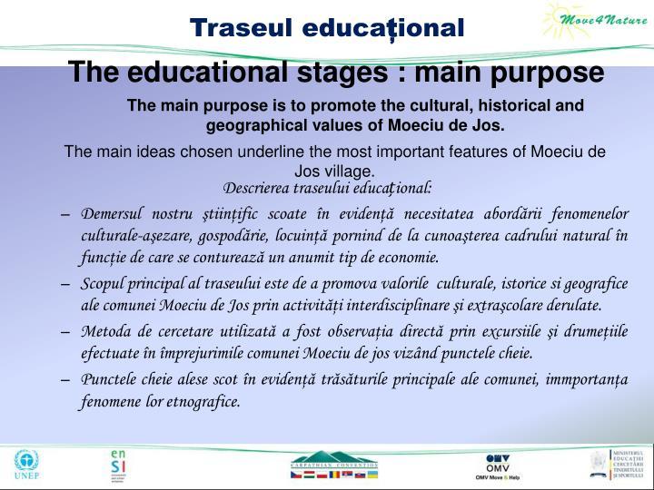 Descrierea traseului educa
