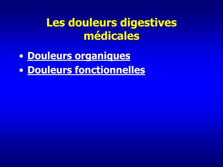 Les douleurs digestives médicales