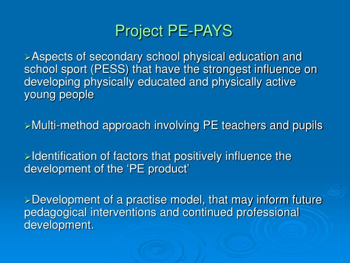 Project pe pays