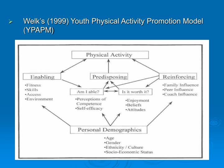 Welk's (1999) Youth Physical Activity Promotion Model (YPAPM)
