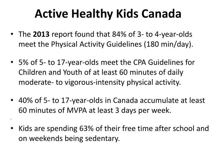 Active Healthy Kids Canada