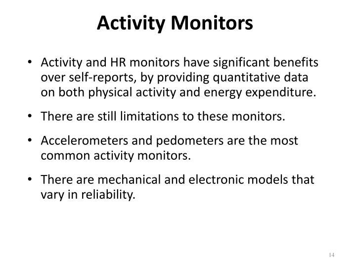 Activity Monitors