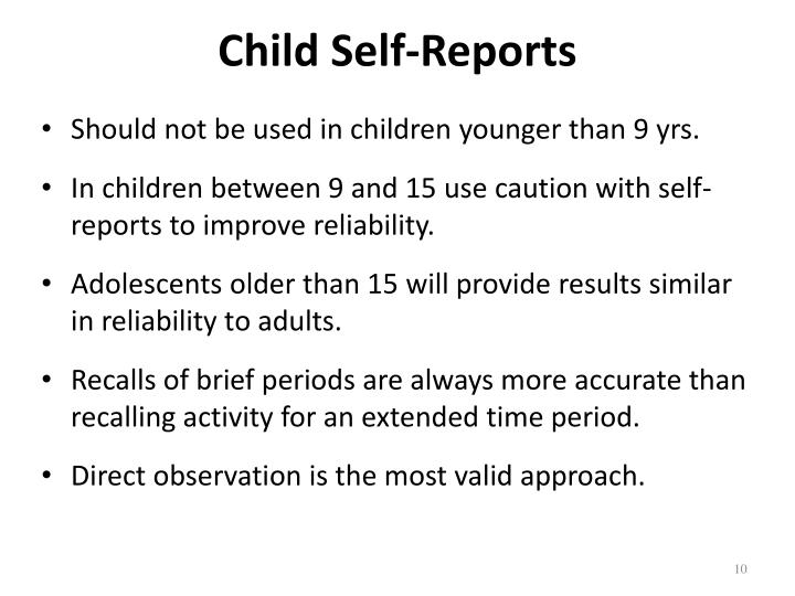 Child Self-Reports