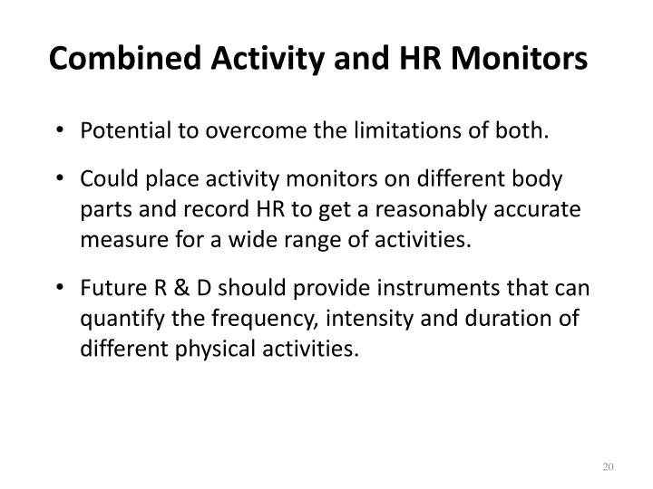 Combined Activity and HR Monitors