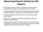 measuring physical activity by self reports1
