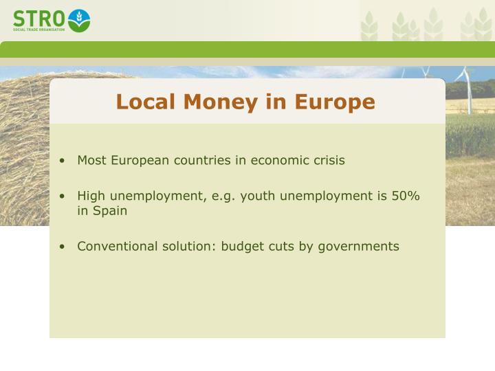 Local Money in Europe