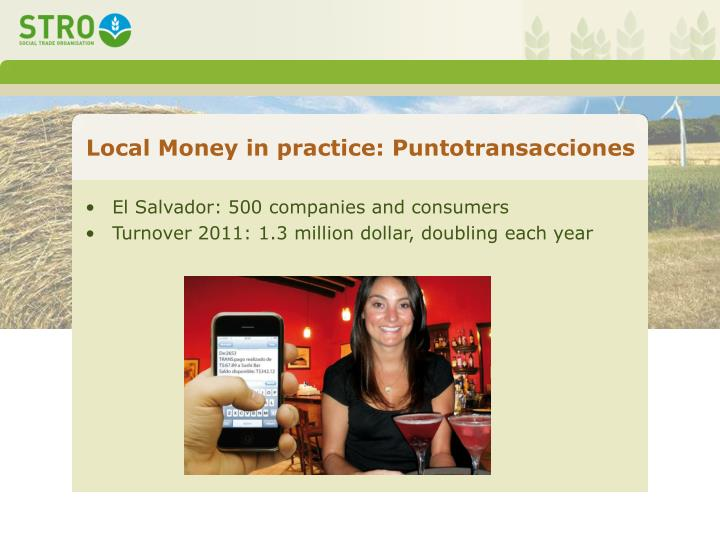 Local Money in practice: Puntotransacciones