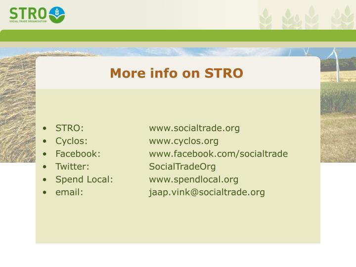 More info on STRO