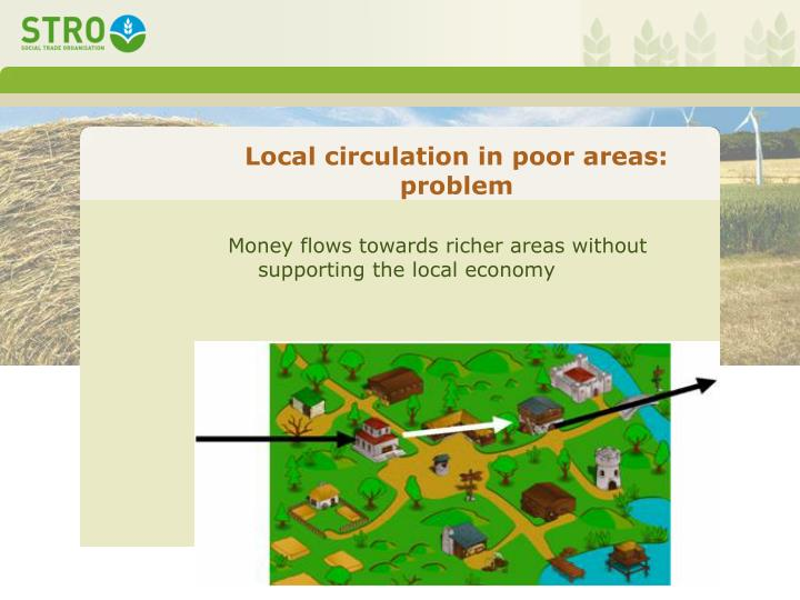 Local circulation in poor areas: