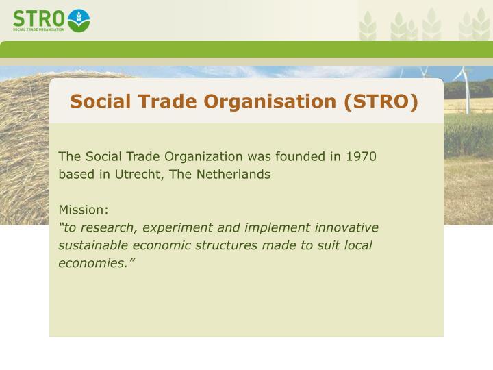 Social Trade Organisation (STRO)